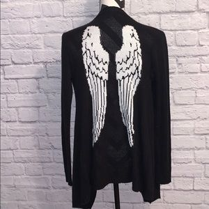 Hot Topic Angel Wing Open Front Cardigan